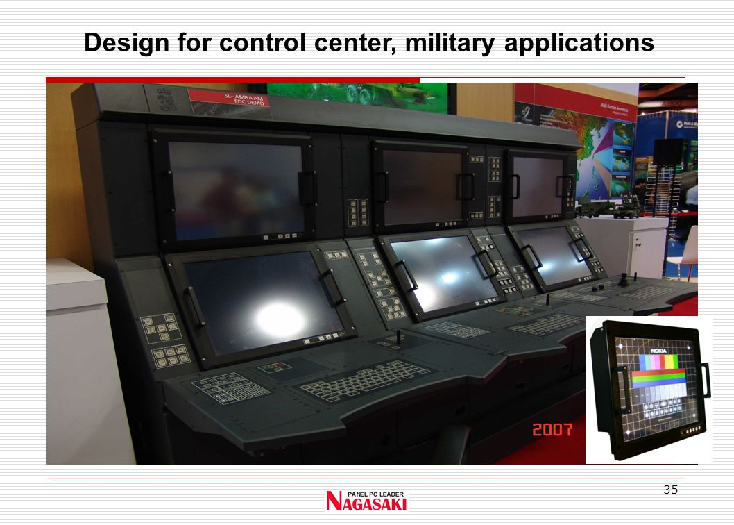 35 Design for control center, military applications