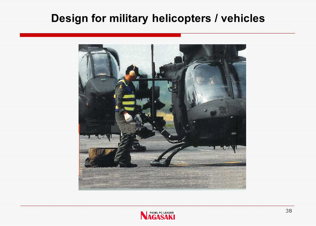 38 Design for military helicopters / vehicles