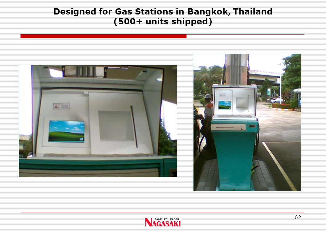 62 Designed for Gas Stations in Bangkok, Thailand (500+ units shipped)