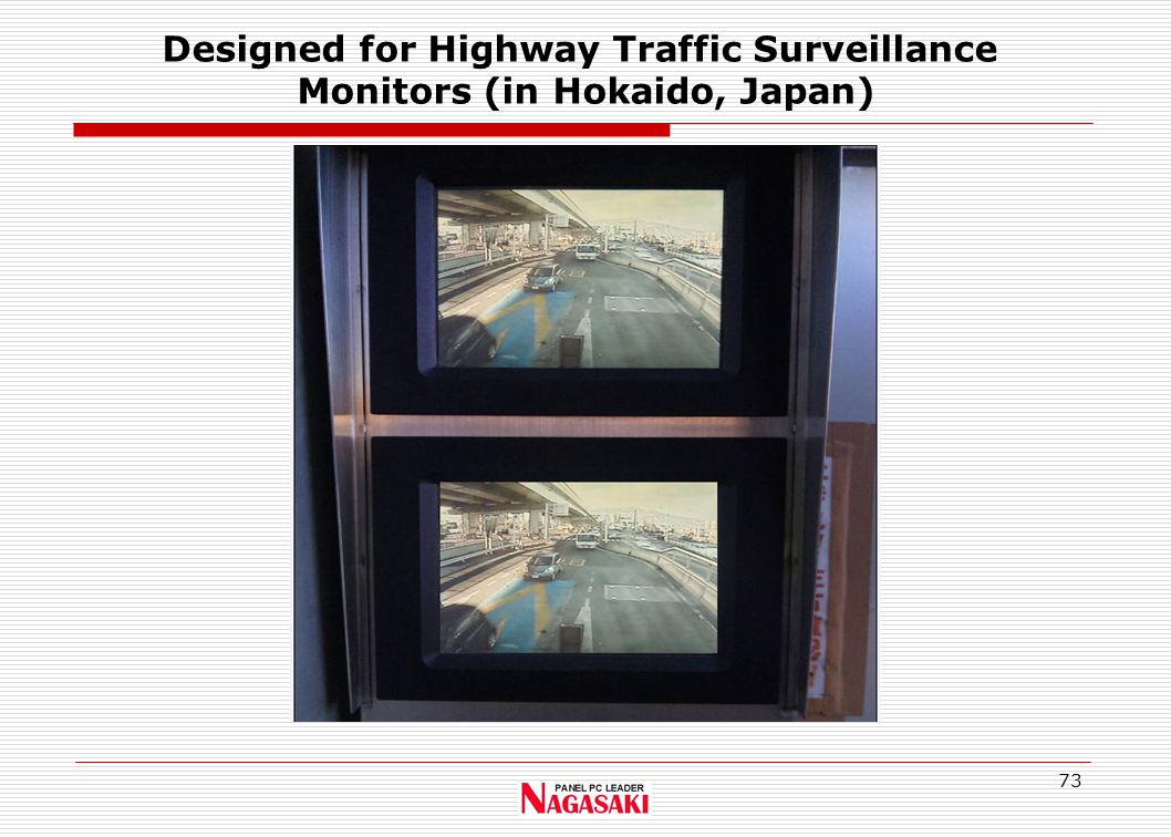 73 Designed for Highway Traffic Surveillance Monitors (in Hokaido, Japan)