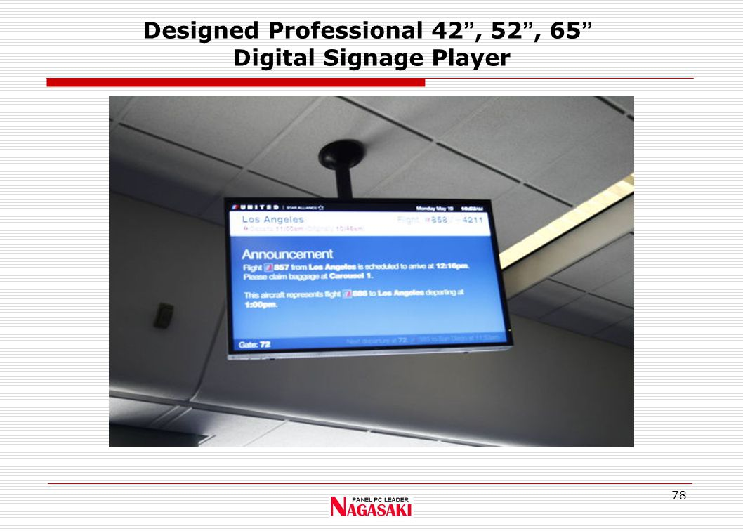 78 Designed Professional 42 , 52 , 65 Digital Signage Player
