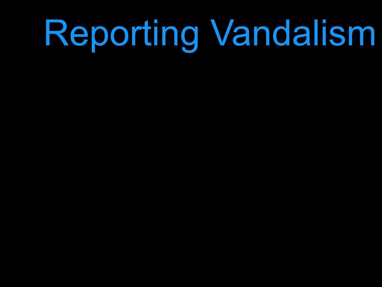 Reporting Vandalism