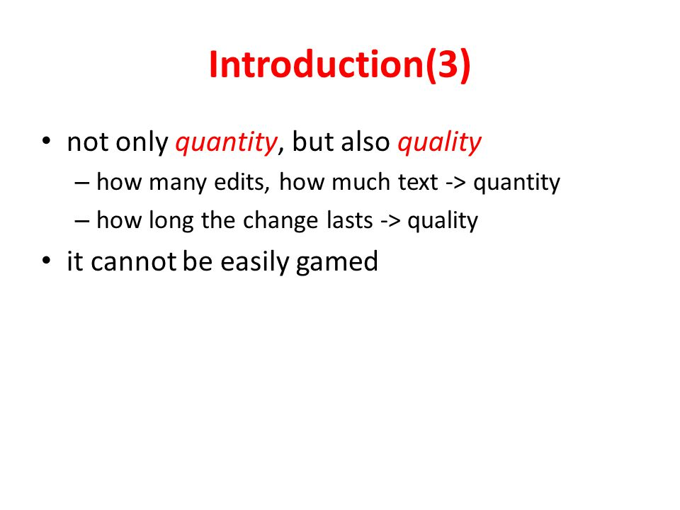 Edit Only and Text Only only quantity in Edit Longevity only quantity in Text longevity Contribution Measures