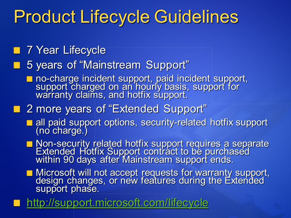 Technology Windows XP SP2 Easier, effective management of PC security that puts the customer in control Network protection, safer e-mail and Web browsing, memory protection Beta 1 released on December 19, 2003 Availability: target RTM H1 CY04 New security technologies for Windows XP to make systems more resilient against attack