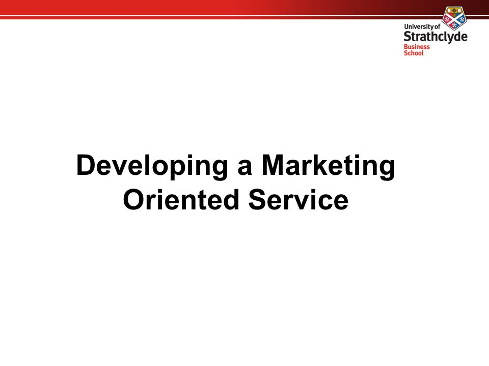 Key Marketing Themes  Developing a Marketing Oriented Service  Identifying and Targeting your Key User Groups  Delivering a User Oriented Service  Communicating and Promoting Your Services
