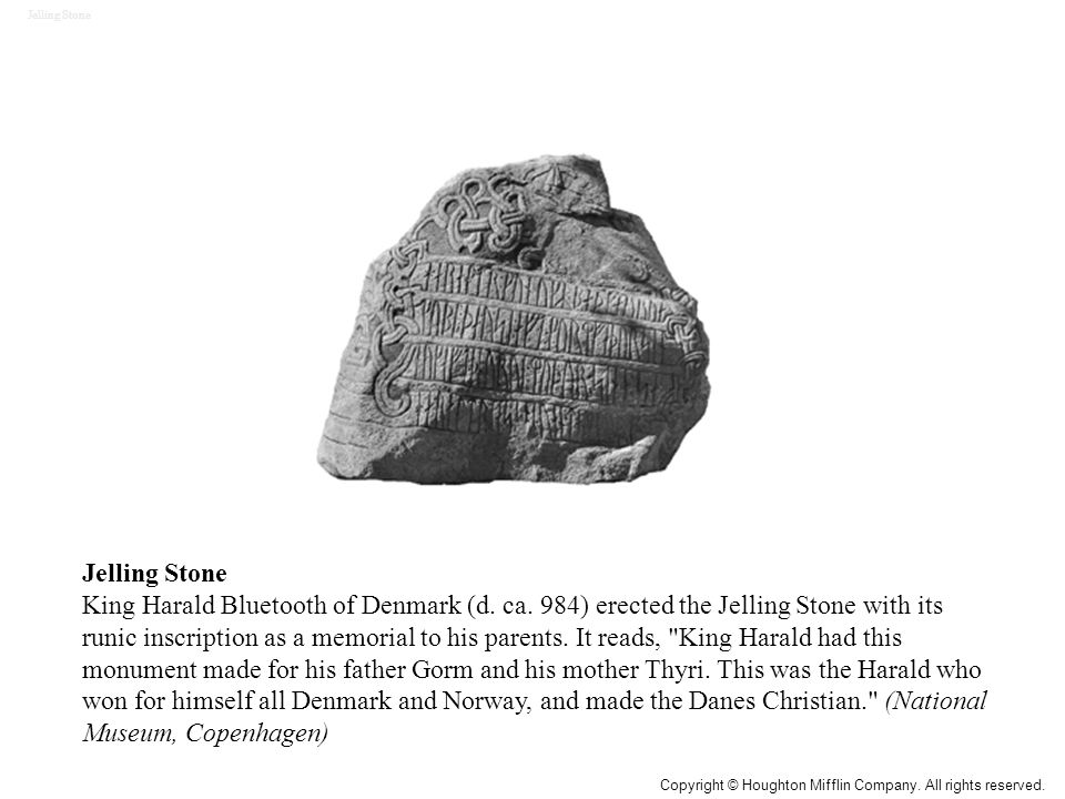 Jelling Stone King Harald Bluetooth of Denmark (d.