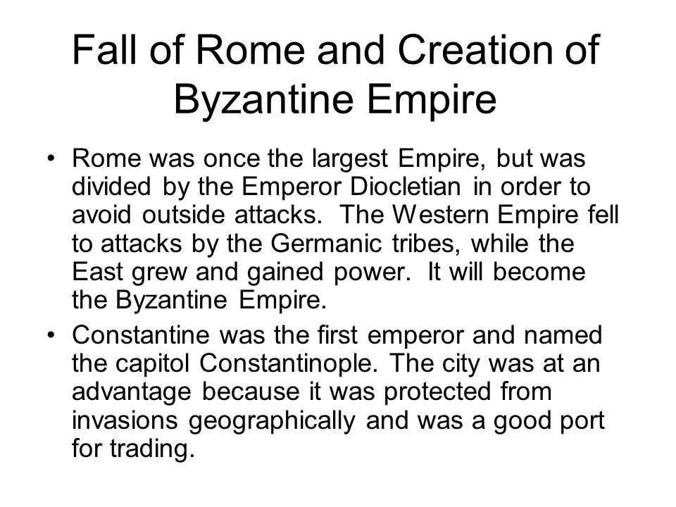 Western Roman Empire = Red Eastern Roman Empire = Blue