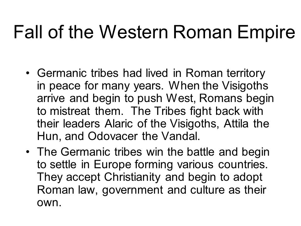 Artist's depiction of the Germanic tribes conquering Rome.