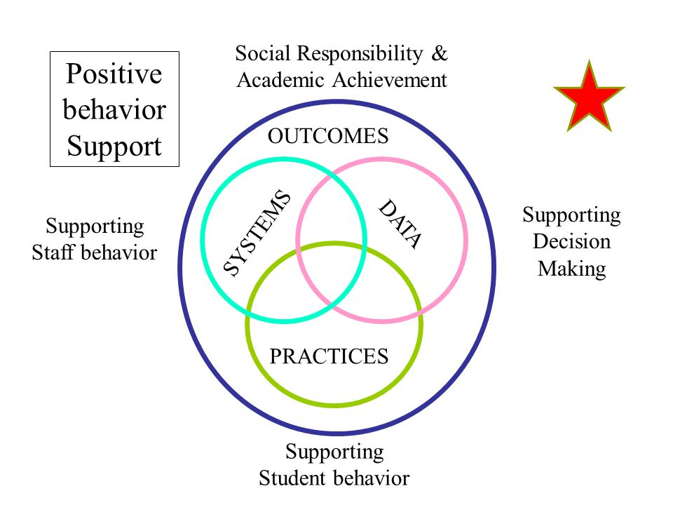 SYSTEMS PRACTICES DATA Supporting Staff behavior Supporting Decision Making Supporting Student behavior Positive behavior Support OUTCOMES Social Resp