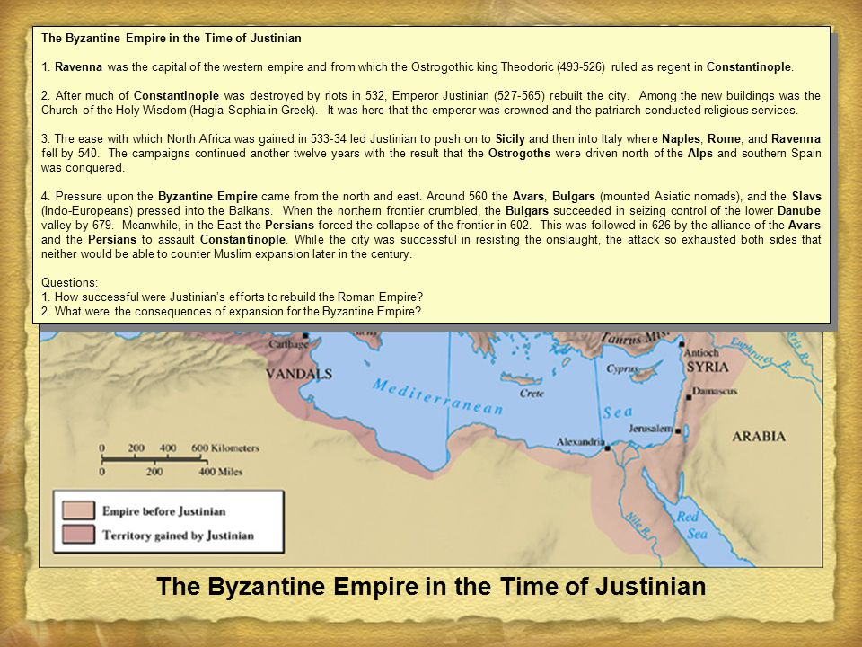 The Byzantine Empire in the Time of Justinian 1.