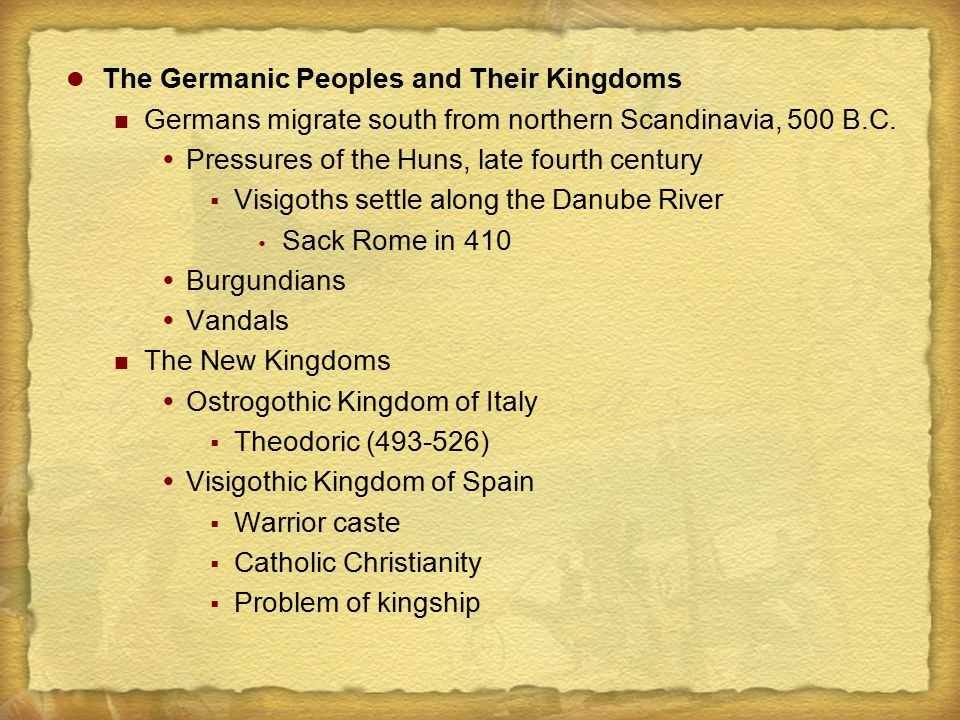 The New Kingdoms of the Old Western Empire 1.