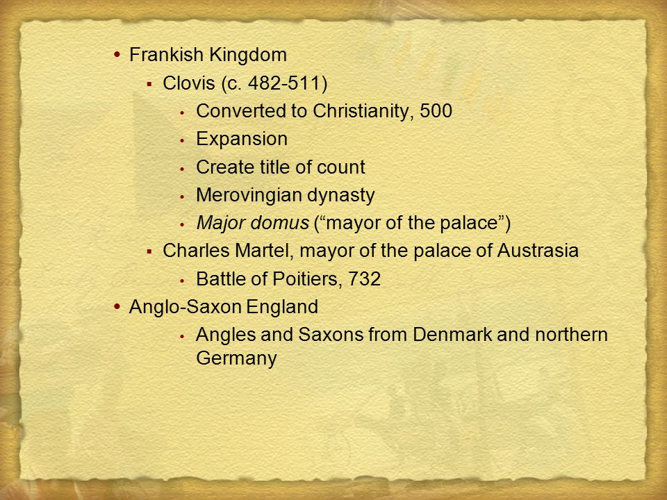 Society of the Germanic Peoples in the New Kingdoms Influenced by Roman society Fusion of Roman and Germanic upper-classes Germanic law Wergeld Family and marriage Development of the Latin Christian Church Pope Gregory I, 590-604  Papal states  Extend papal authority  The Book of Pastoral Care