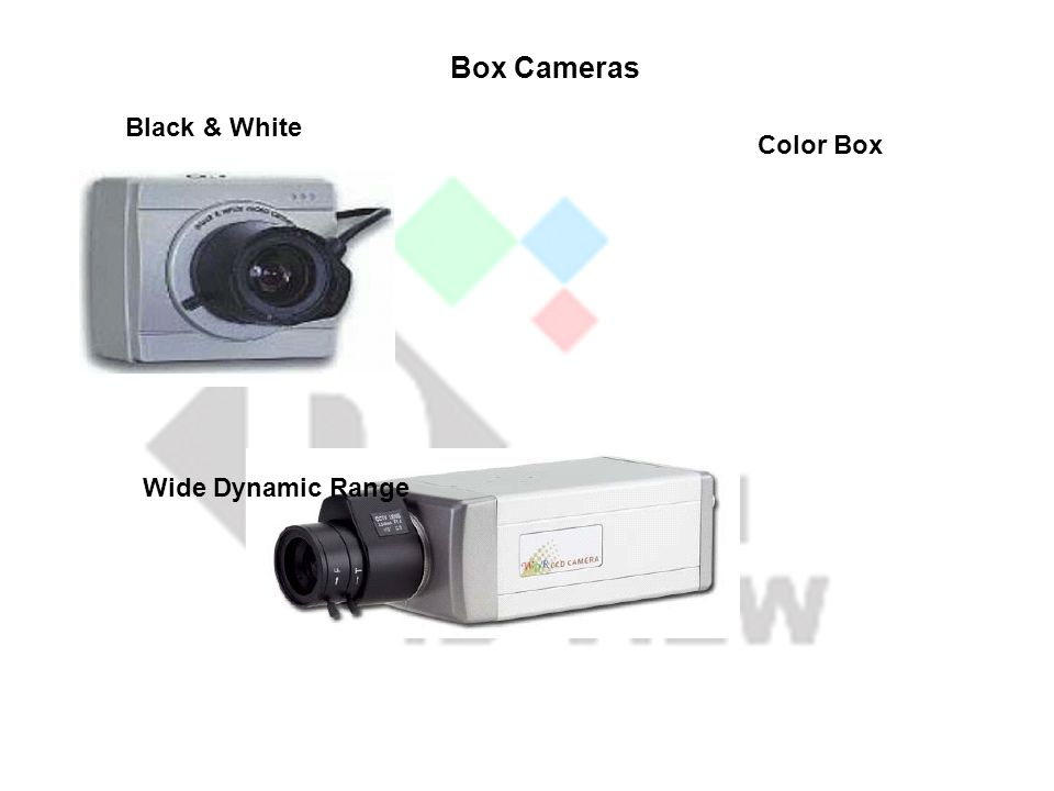 Box Cameras Black & White Color Box Wide Dynamic Range