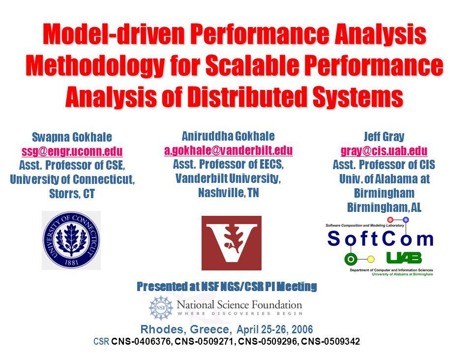 Model-driven Performance Analysis Methodology for Scalable Performance Analysis of Distributed Systems Aniruddha Gokhale a.gokhale@vanderbilt.edu a.gokhale@vanderbilt.edu Asst.