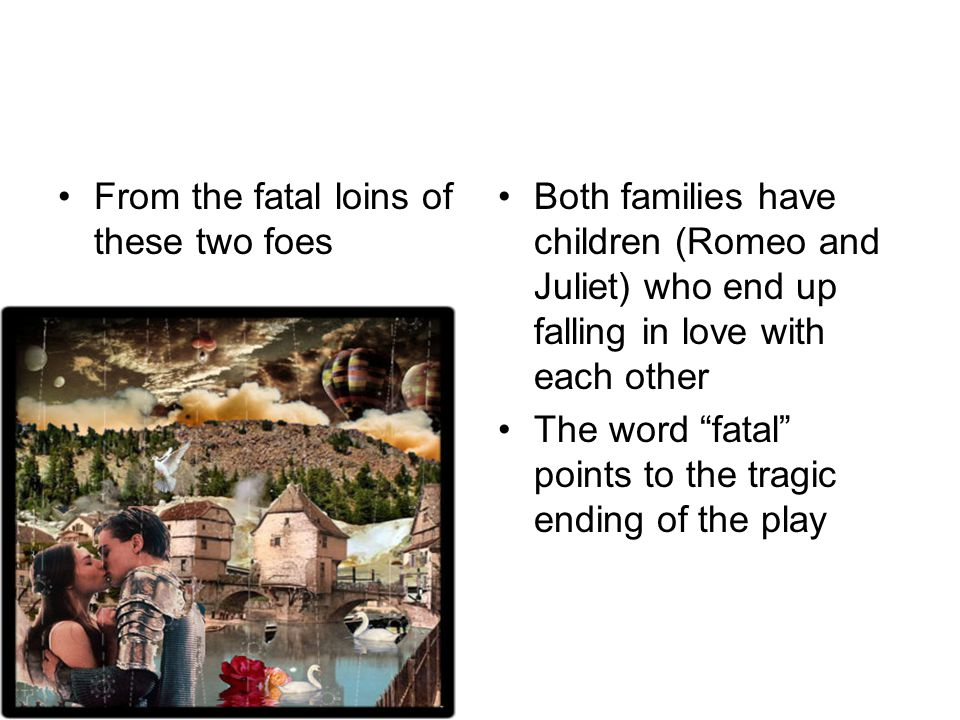 A pair of star cross'd lovers take their life Both Romeo and Juliet meet a disasterous end: both commit suicide