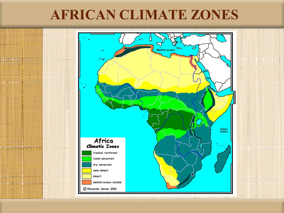 AFRICAN CLIMATE ZONES