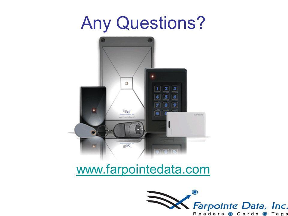 Any Questions? www.farpointedata.www.farpointedata.com