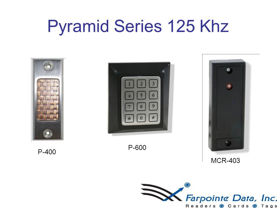 9 Pyramid Series 125 Khz 9 P-400 P-600 MCR-403
