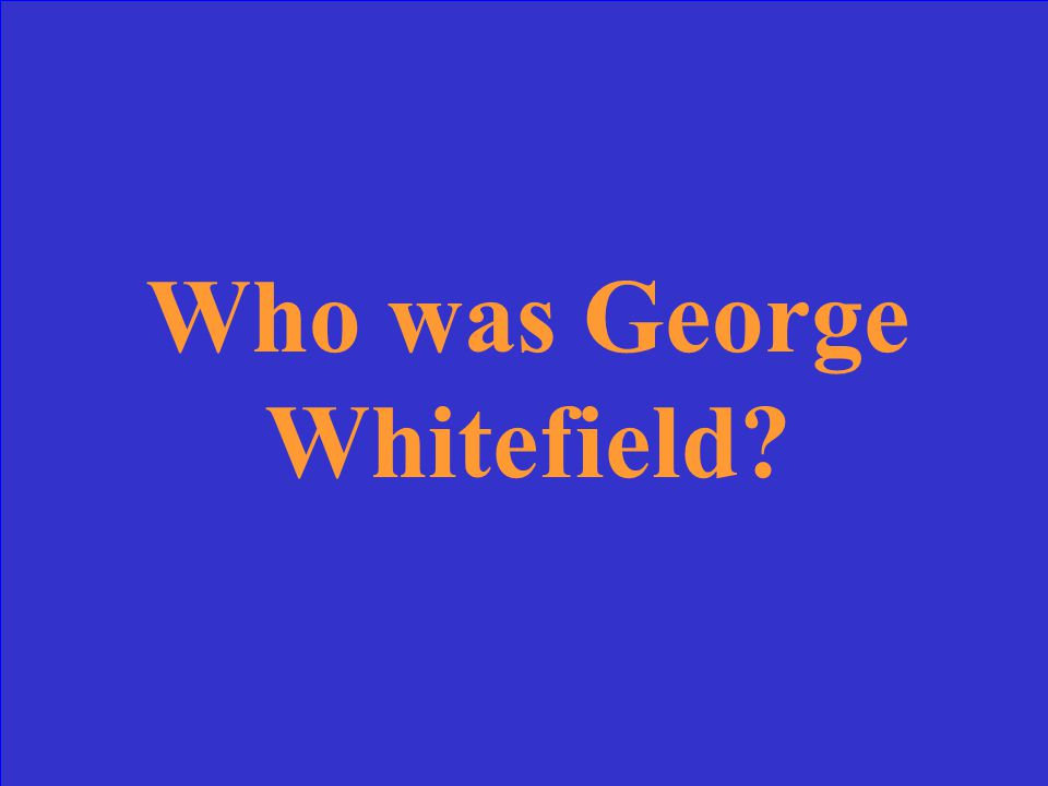 John Brown, Abraham Lincoln, or George Whitefield