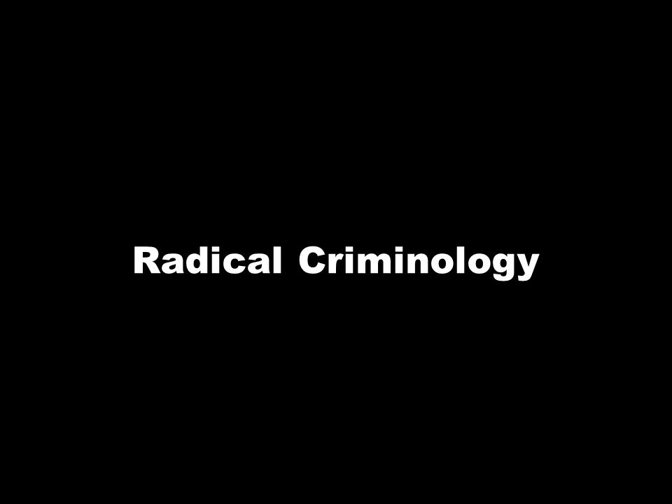 Radical Criminology