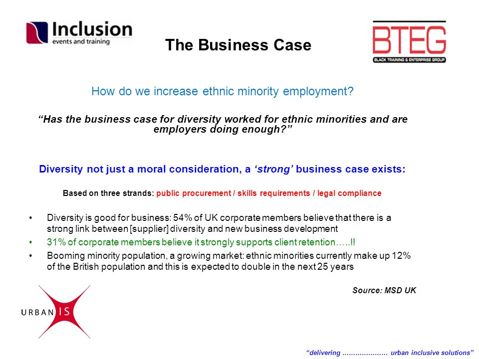 "How do we increase ethnic minority employment? ""Has the business case for diversity worked for ethnic minorities and are employers doing enough?"" Dive"