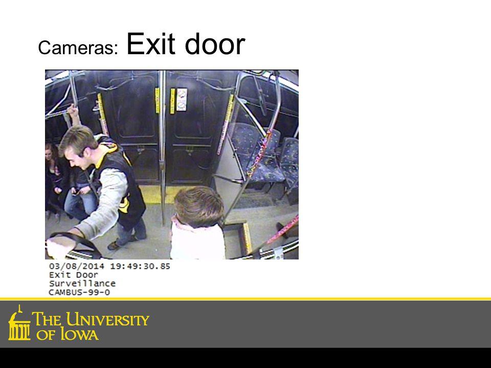 Cameras: Exit door