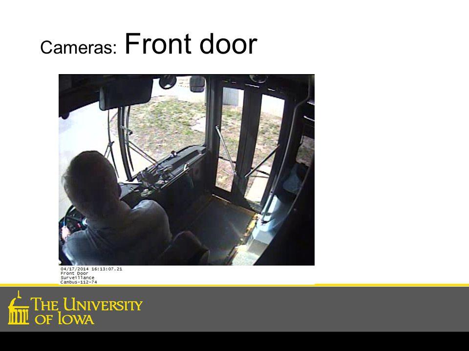 Cameras: Front door