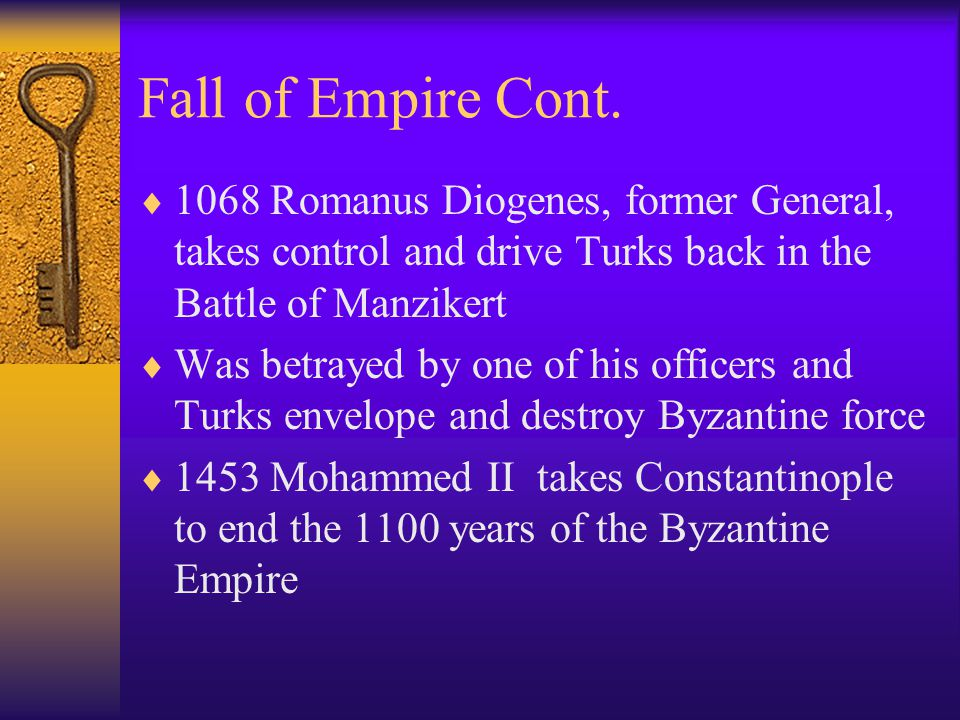 Fall of Empire Cont.