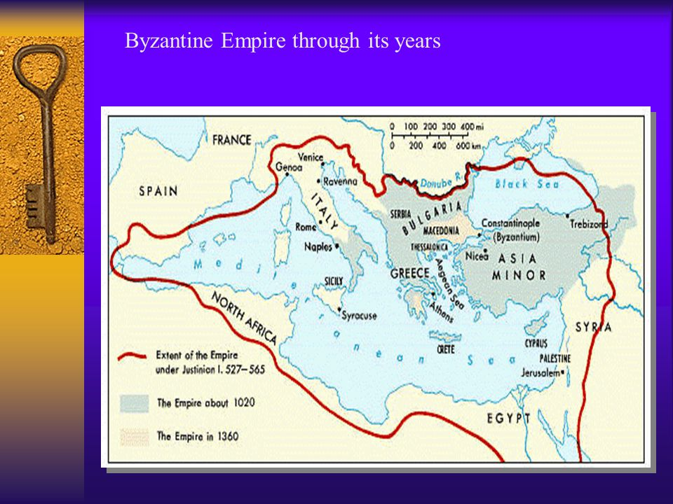 Byzantine Empire through its years