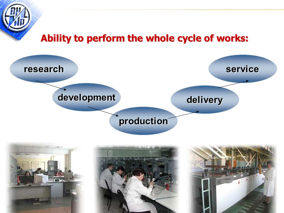 5 Ability to perform the whole cycle of works: production development research delivery service