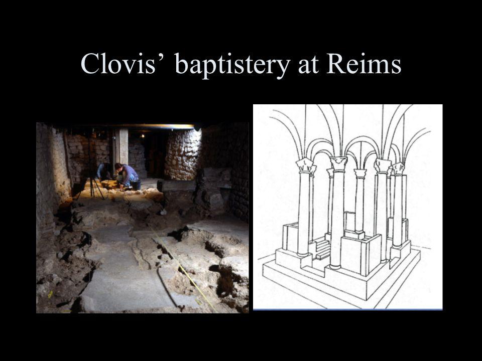 Clovis' baptistery at Reims
