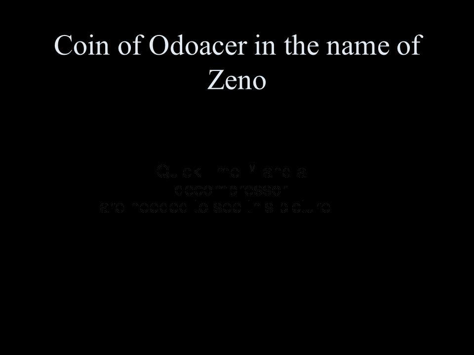 Coin of Odoacer in the name of Zeno