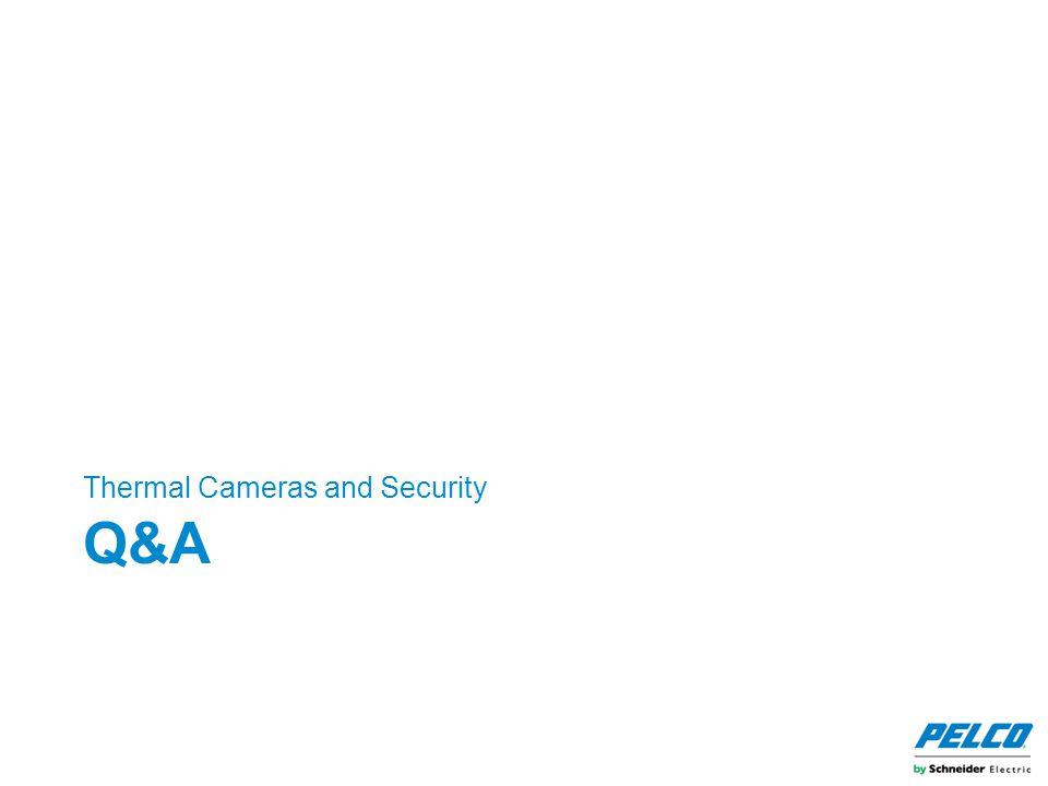 Q&A Thermal Cameras and Security