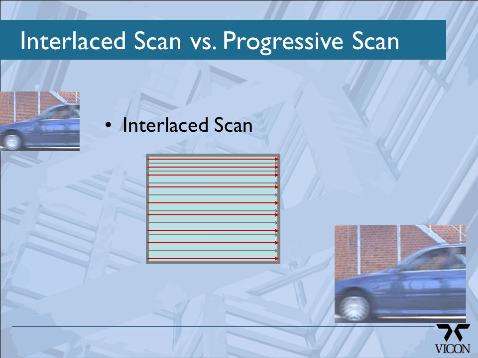 Interlaced Scan vs. Progressive Scan Interlaced Scan
