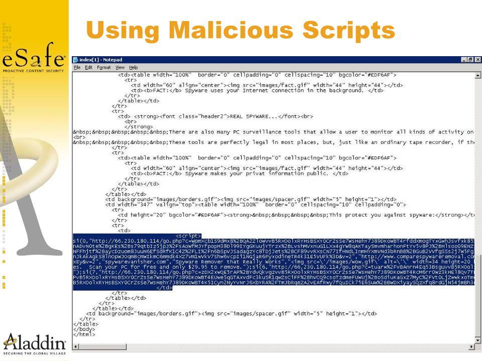 Using Malicious Scripts