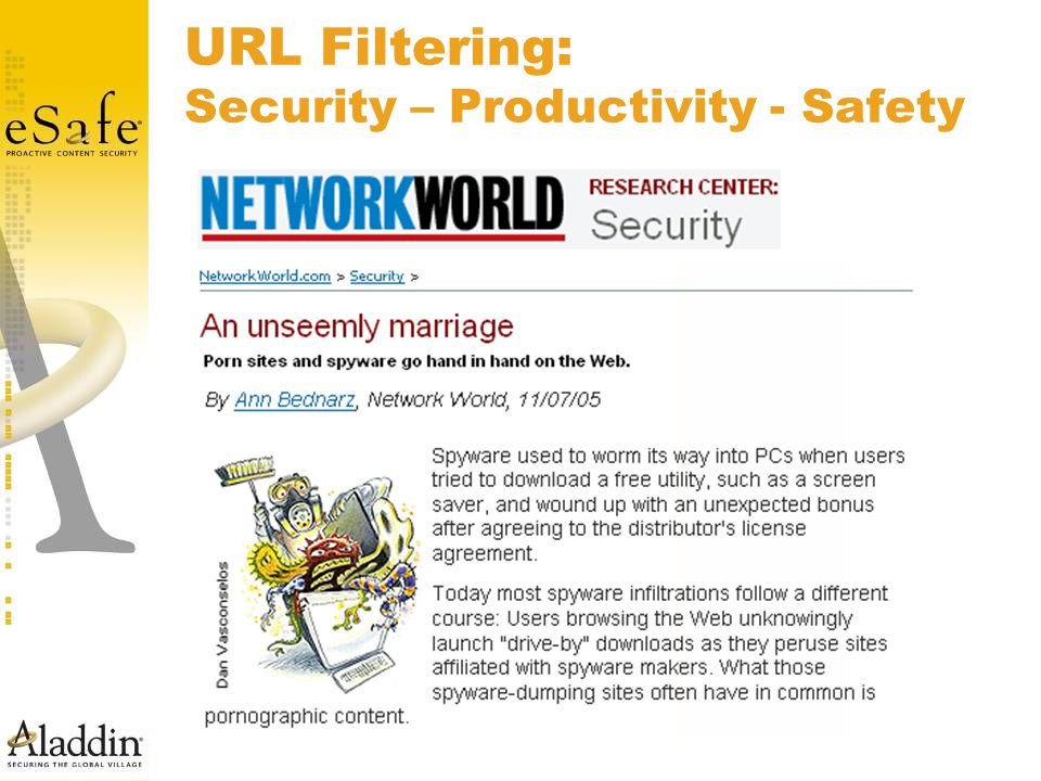 URL Filtering: Security – Productivity - Safety