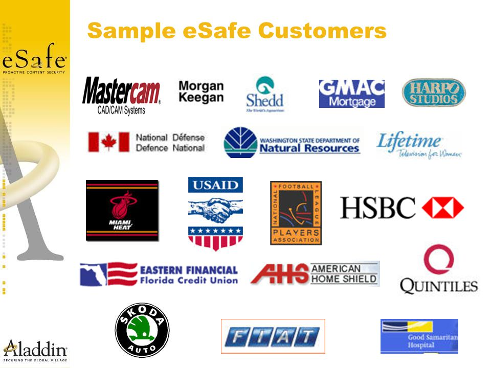 Sample eSafe Customers