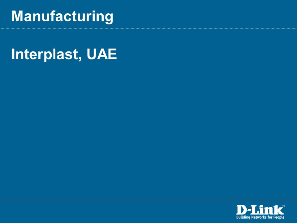 Interplast, UAE Manufacturing