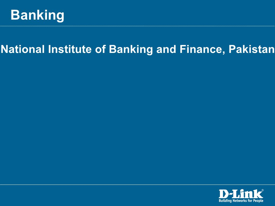 National Institute of Banking and Finance, Pakistan Banking