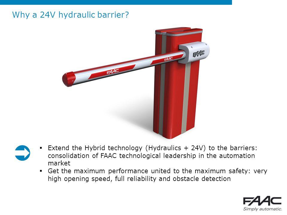 New FAAC 24V hydraulic barriers: B680H