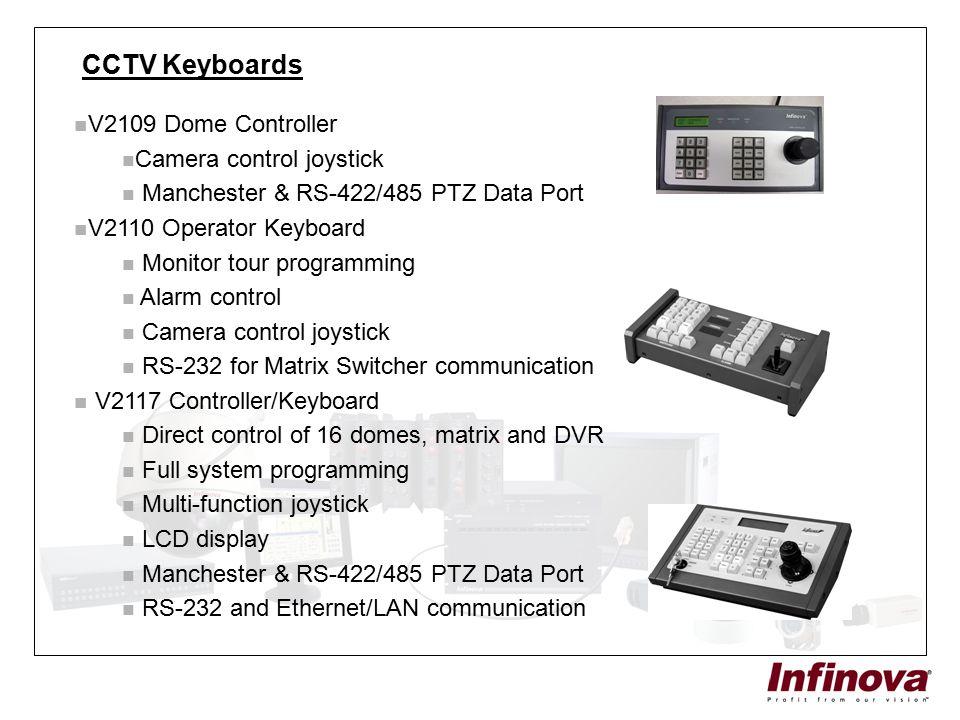 CCTV Keyboards V2109 Dome Controller Camera control joystick Manchester & RS-422/485 PTZ Data Port V2110 Operator Keyboard Monitor tour programming Al