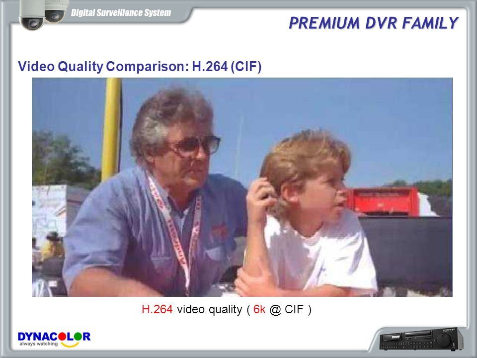 Hybrid: DG600 records Mega Pixel Image PREMIUM DVR FAMILY 1280x960 D1/VGA MEGA Pixel resolution provides details and clarity not seen on traditional analog and VGA cameras.