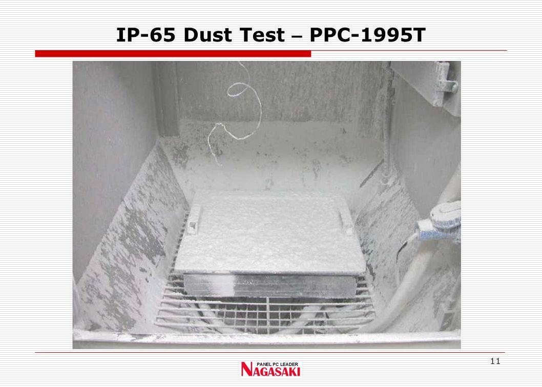 11 IP-65 Dust Test – PPC-1995T