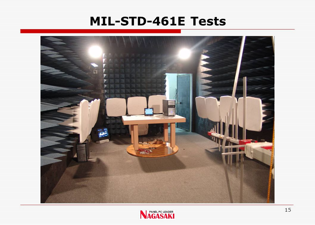 15 MIL-STD-461E Tests