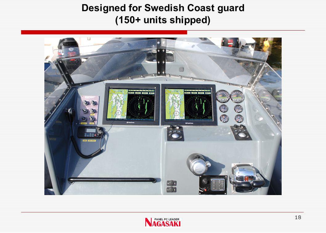 18 Designed for Swedish Coast guard (150+ units shipped)
