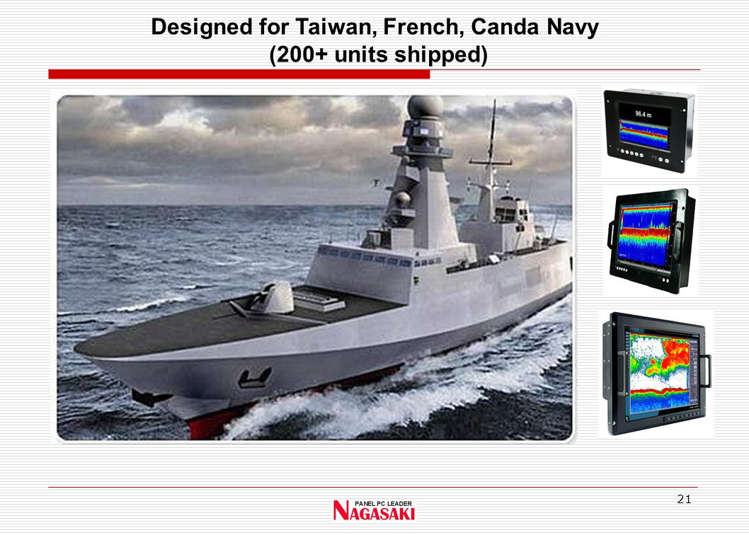21 Designed for Taiwan, French, Canda Navy (200+ units shipped)