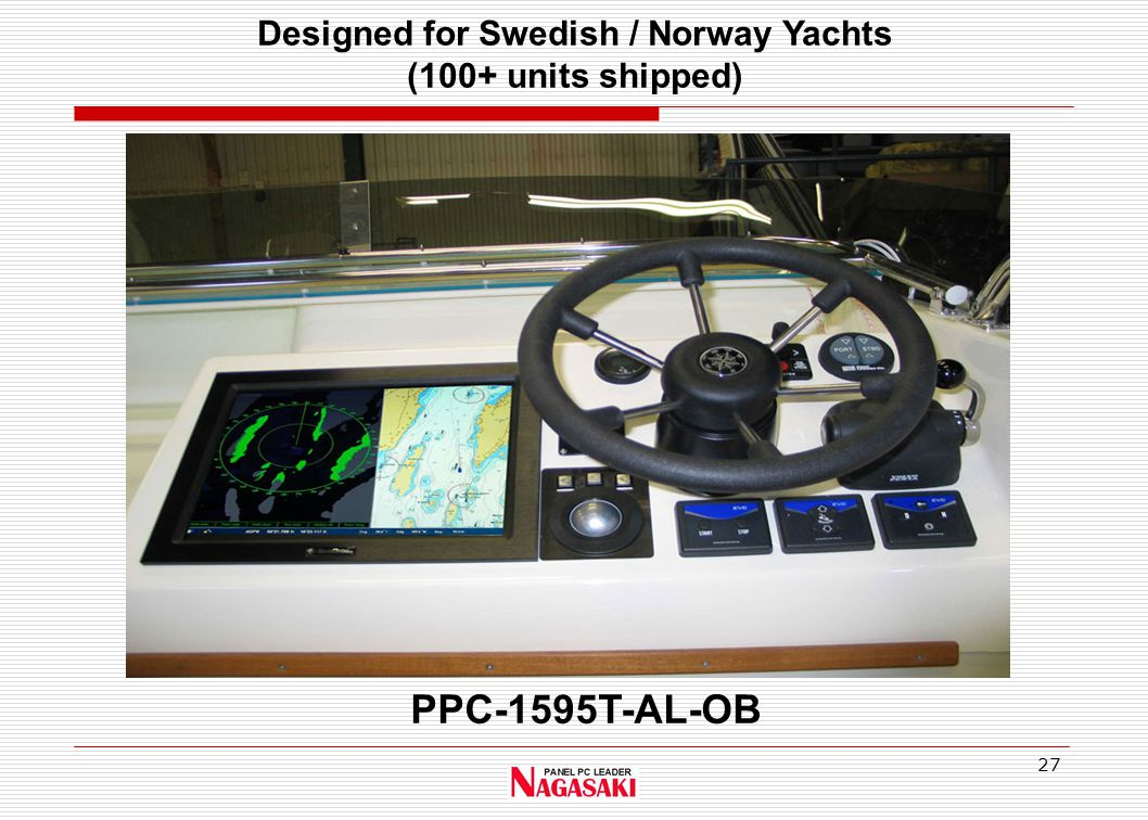 27 PPC-1595T-AL-OB Designed for Swedish / Norway Yachts (100+ units shipped)