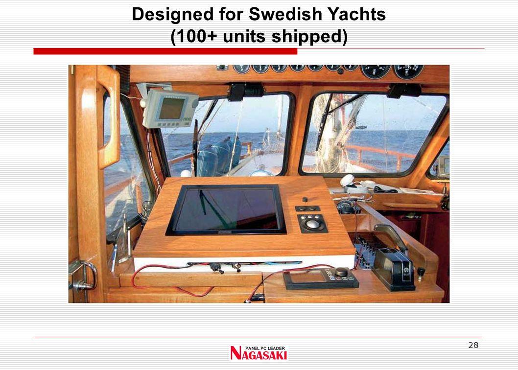 28 Designed for Swedish Yachts (100+ units shipped)