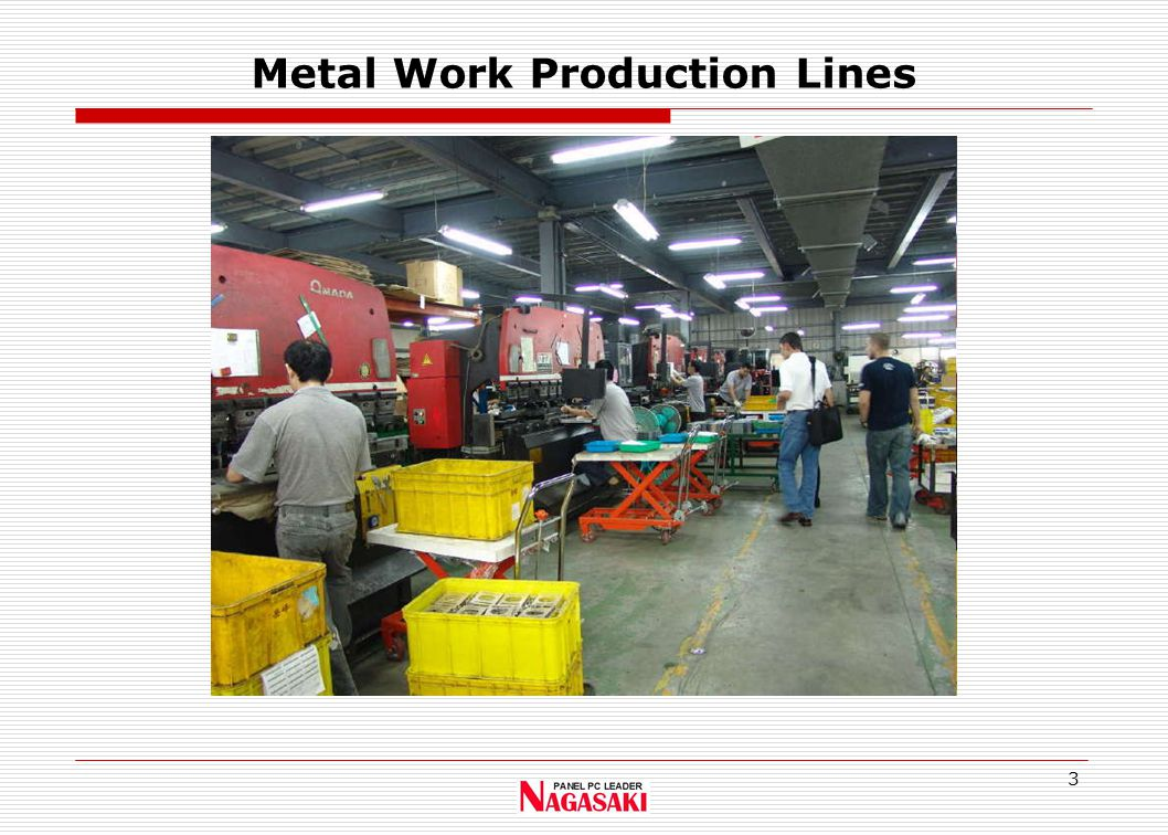 3 Metal Work Production Lines