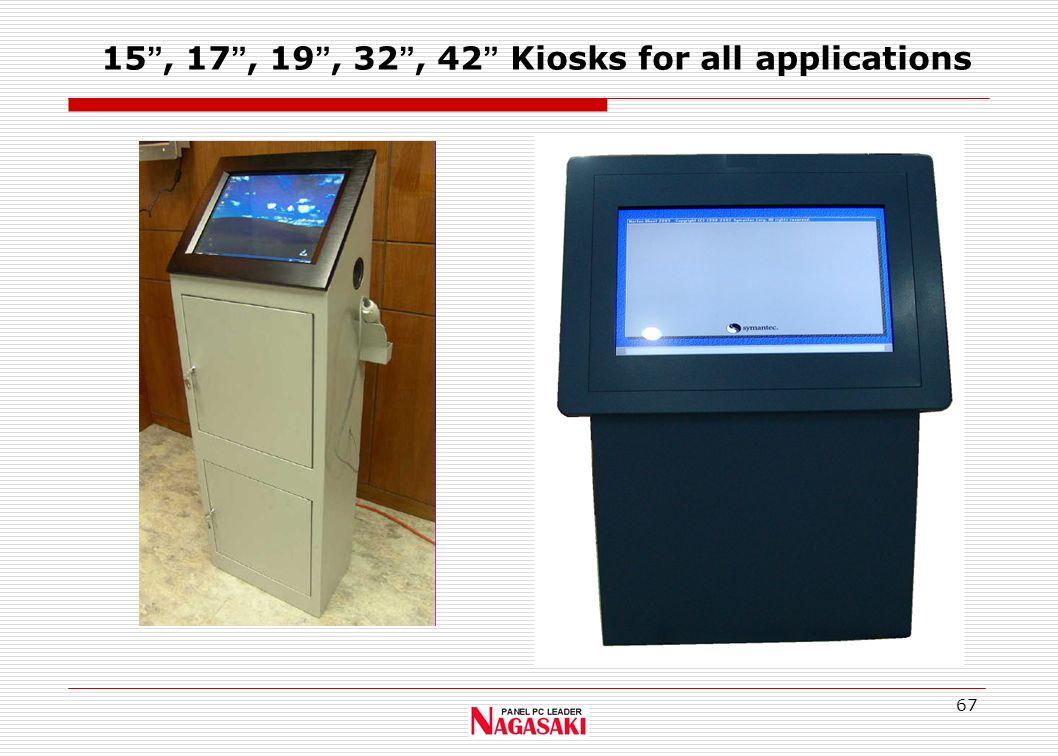 67 15 , 17 , 19 , 32 , 42 Kiosks for all applications